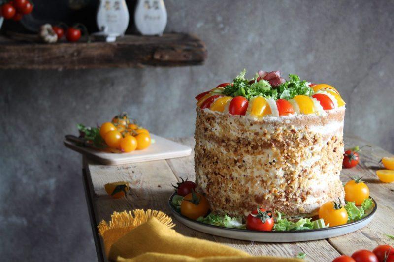"""Panettone gastronomico farcito… una """"cake salata"""" super scenografica!"""