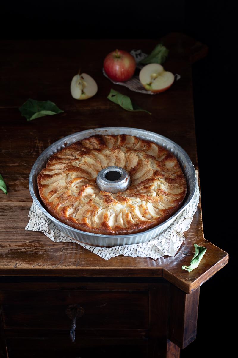 torta di mele e yogurt greco senza burro