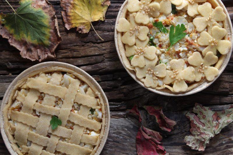 Crostatine salate con cavolfiore, feta e pomodoro secco…