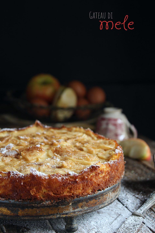 Gateau di mele o torta di mele invisibile