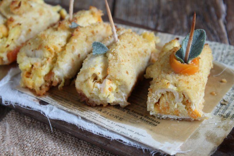 Involtini di pollo panati con verdure e philadelphia, gustosi e leggeri…