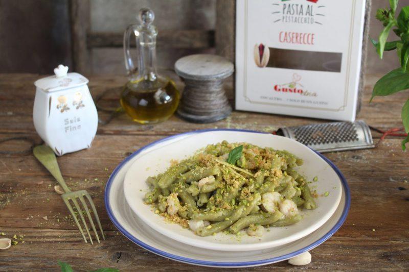 Caserecce al pistacchio e gamberetti, profumi di sicilia…