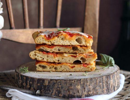 Pizza senza impasto con poco lievito…