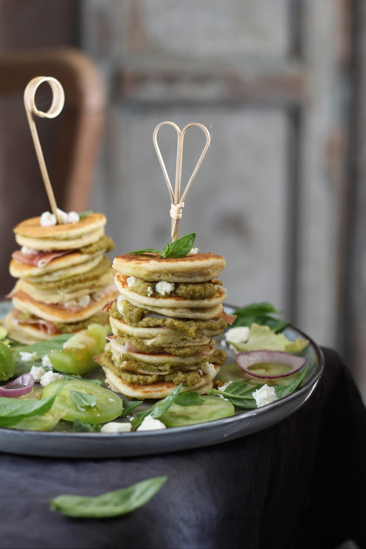 mini pancake salati