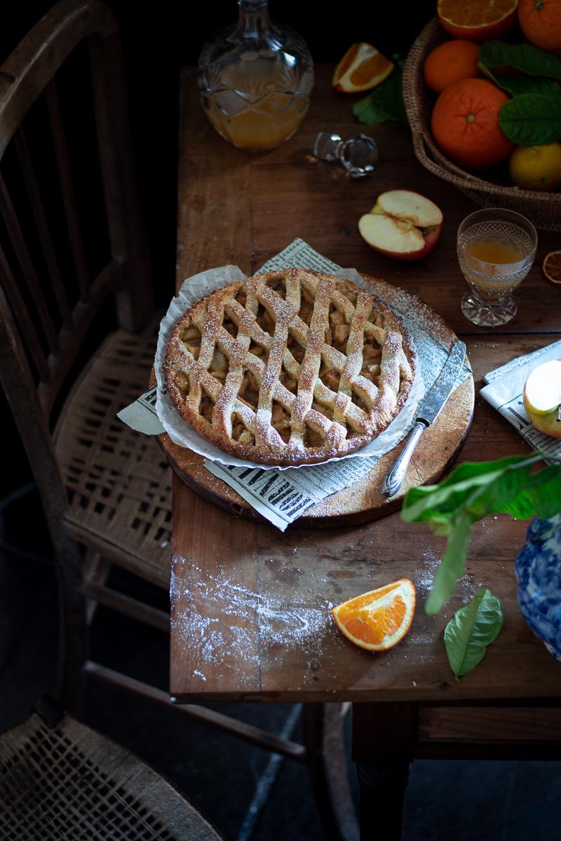 crostata rustica di mele e arance