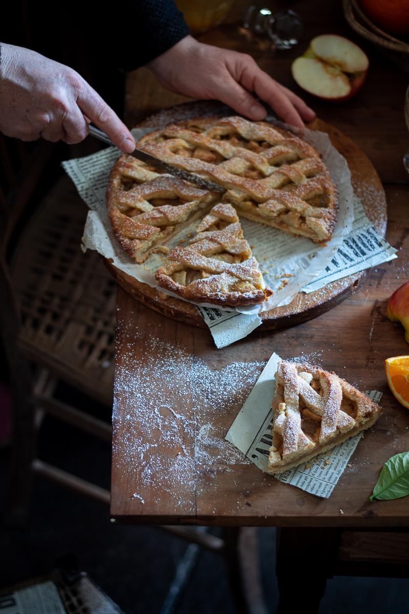 crostata rustica di mele e arancia