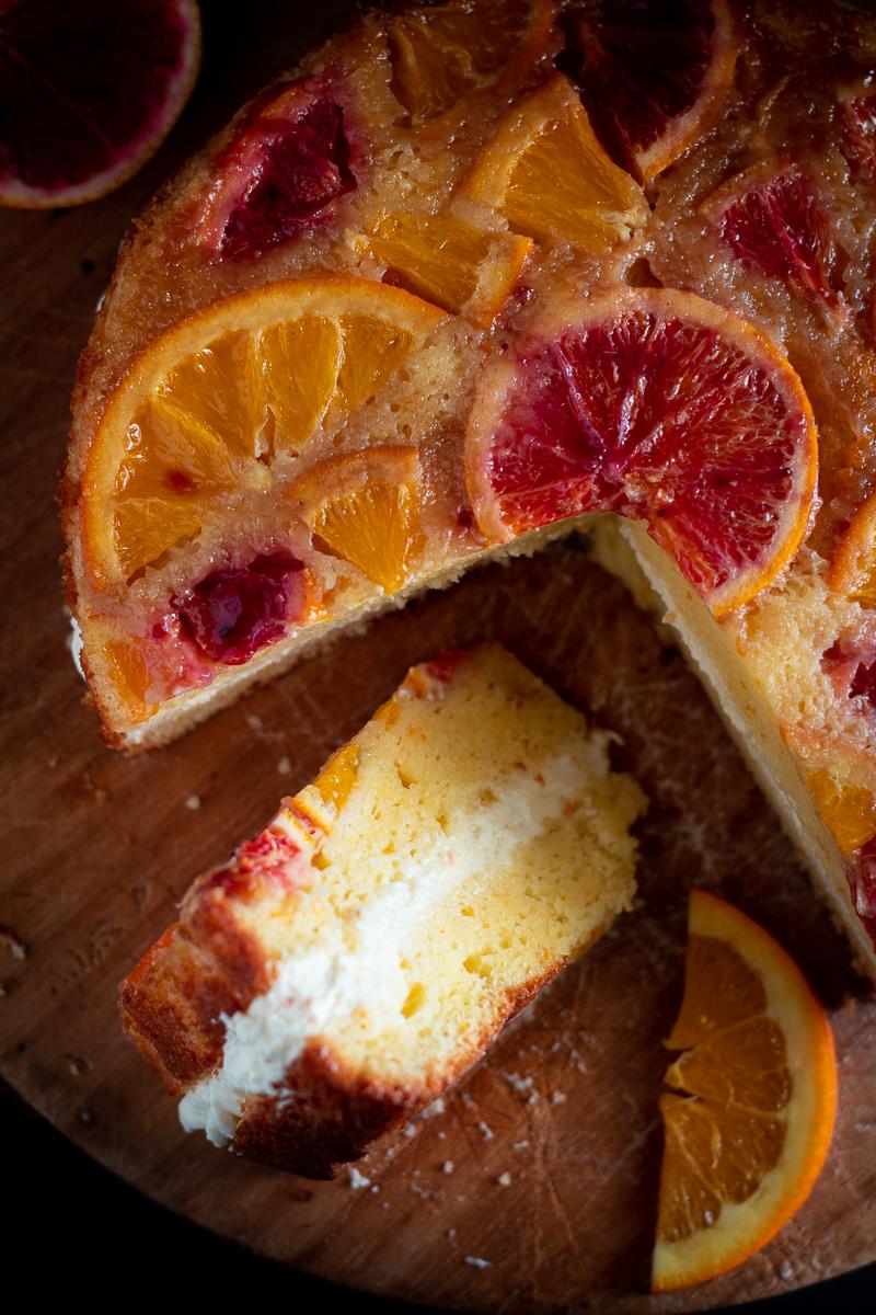 torta rovesciata al'arancia
