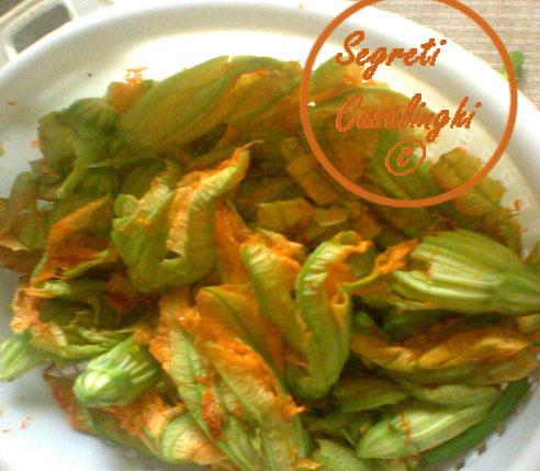 ricetta frittelle fiori zucca