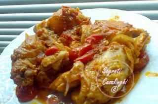 ricetta pollo cacciatora salsa origano peperoncino,pollo alla cacciatora,secondi piatti di carne, pollo cob salsa e origano,pollo cacciatora,