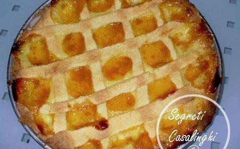 crostata crema pasticcera marmellata albicocca