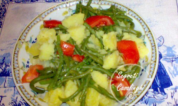 insalata patate pomodori fagiolini