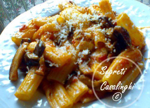 ricetta pasta melanzane mozzarella pomodoro