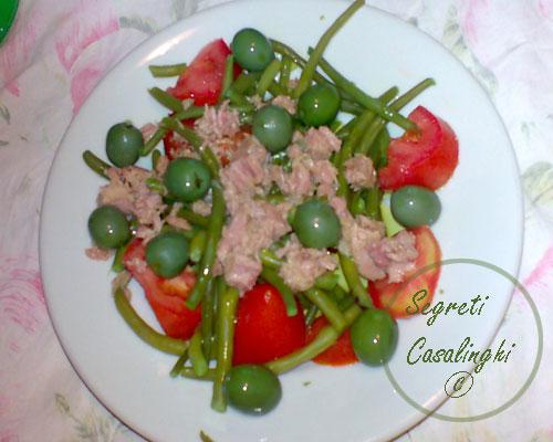 insalata tonno olive pomodori fagiolini