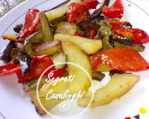 patate peperoni melanzane fritte