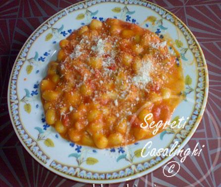 gnocchi morbidi salsa veloce