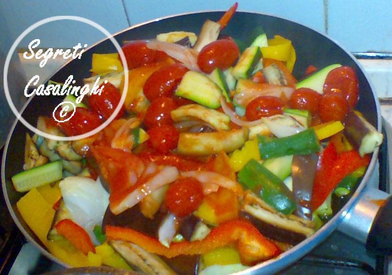 pennette melanzane peperoni zucchine