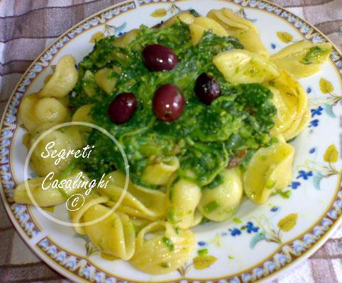 ricetta orecchiette broccoli