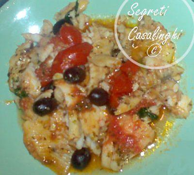 platessa pomodori olive