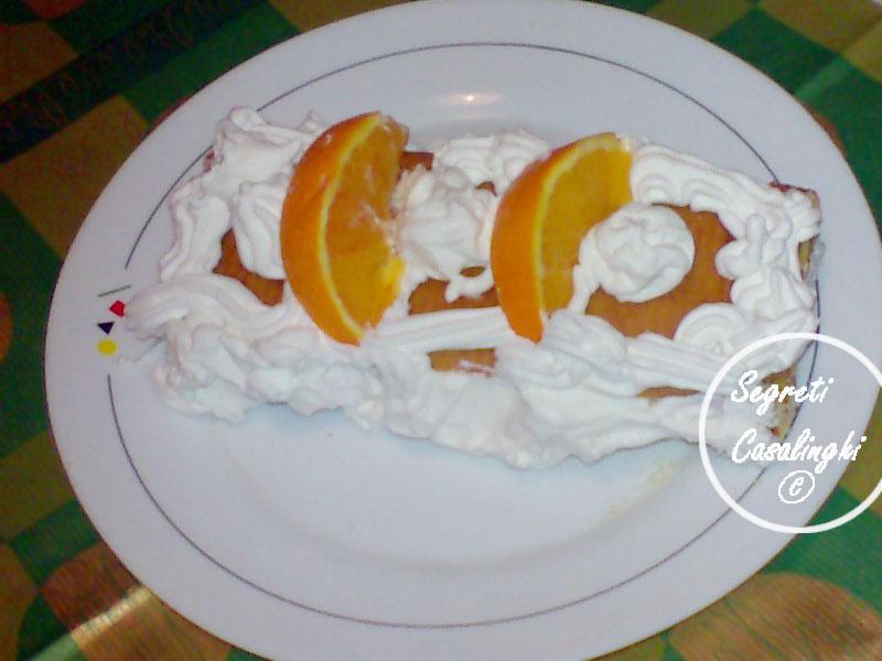rotolo marmellata arance panna