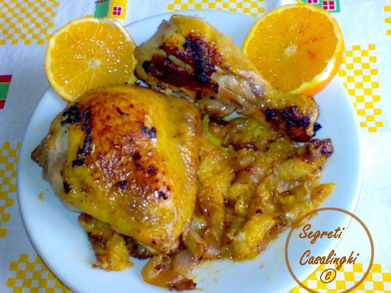 pollo con arancia