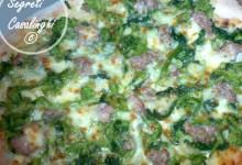pizza broccoli salsiccia mozzarella