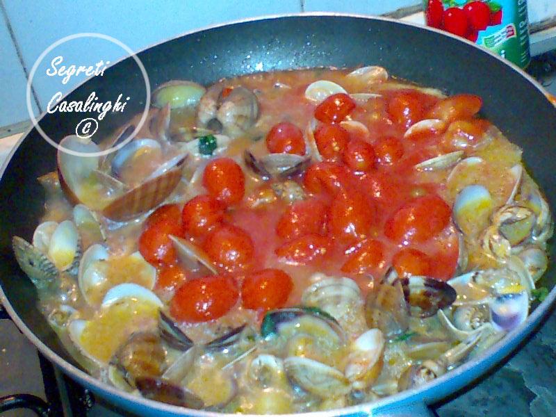 linguine fasolari vongole pomodorini