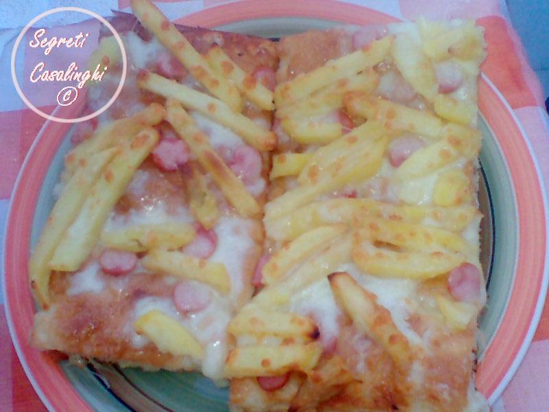 pizzette patatine wurstel mozzarella