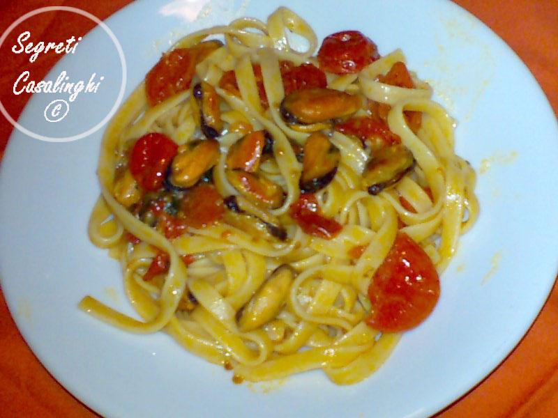 ricetta scialatielli cozze pomodorini