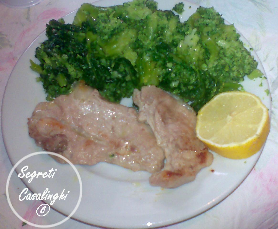 broccoli romani carne maiale