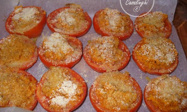 ricetta pomodori forno pangrattato