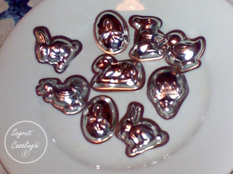 cioccolatini semplici casalinghi pasquali