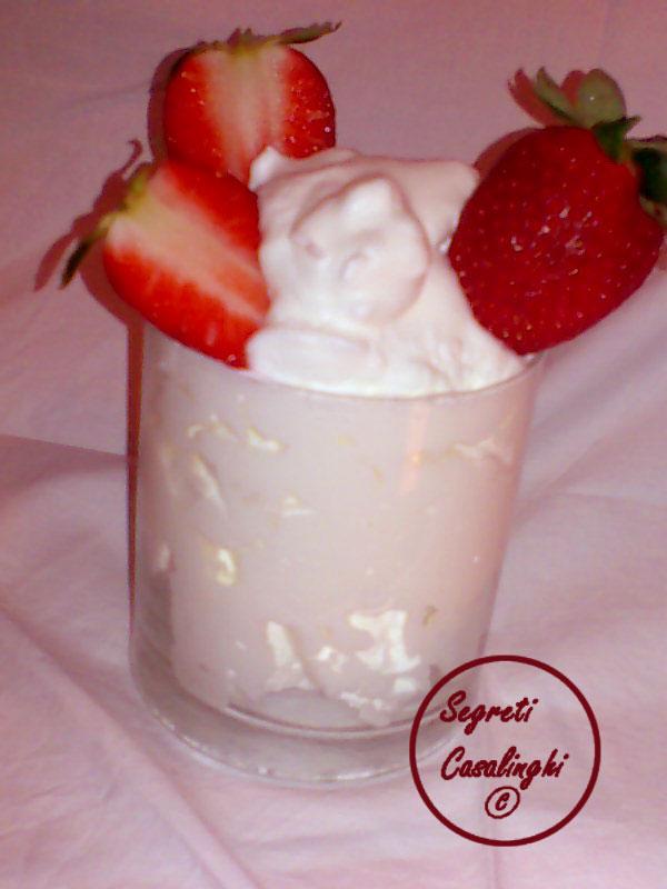 gelato panna casalingo