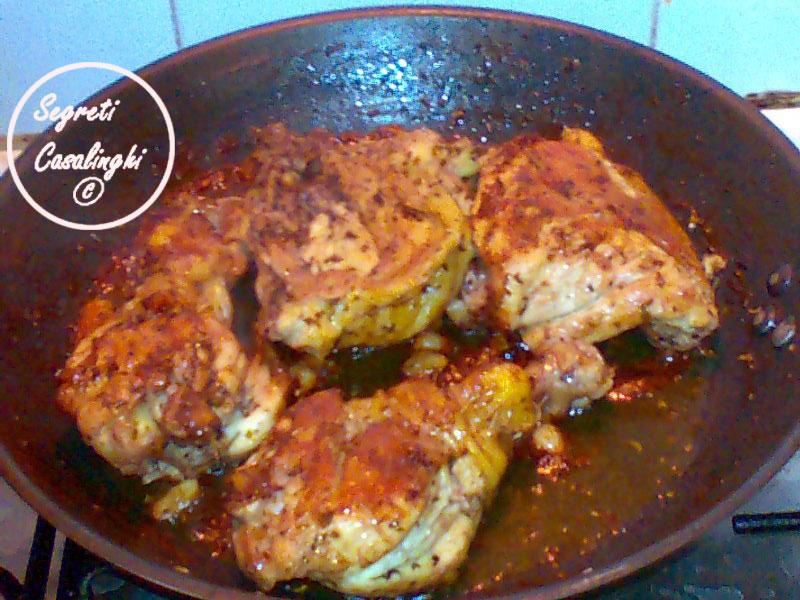 pollo marinato arrostito