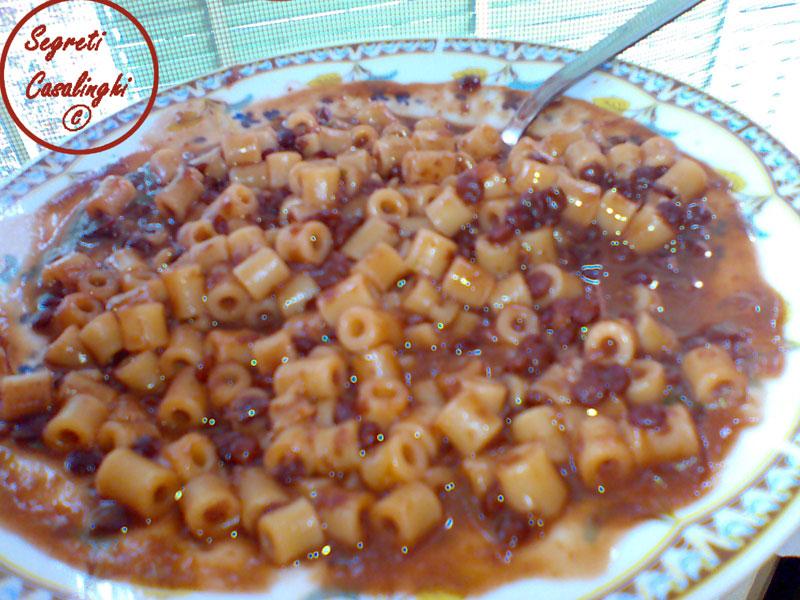 lenticchie napoletane,ricetta pasta e lenticchie,ricette legumi,