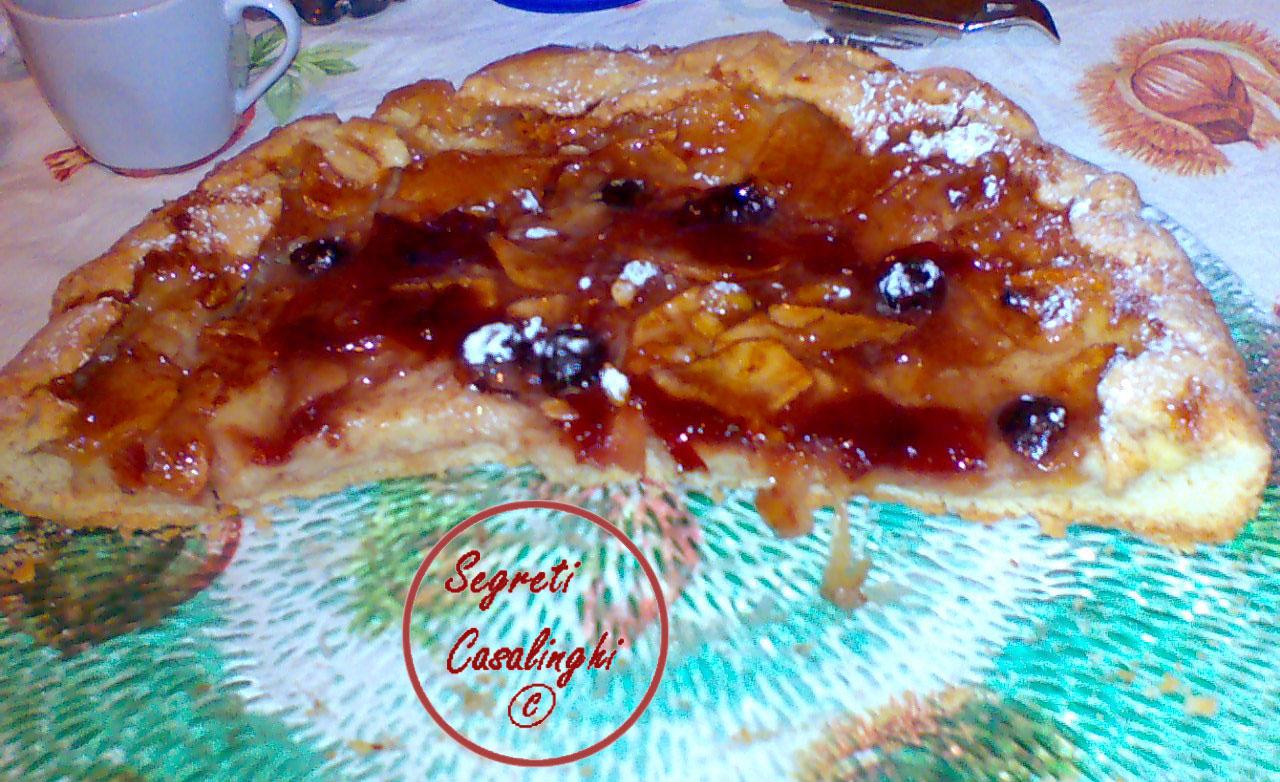 crostata mele crema cannella