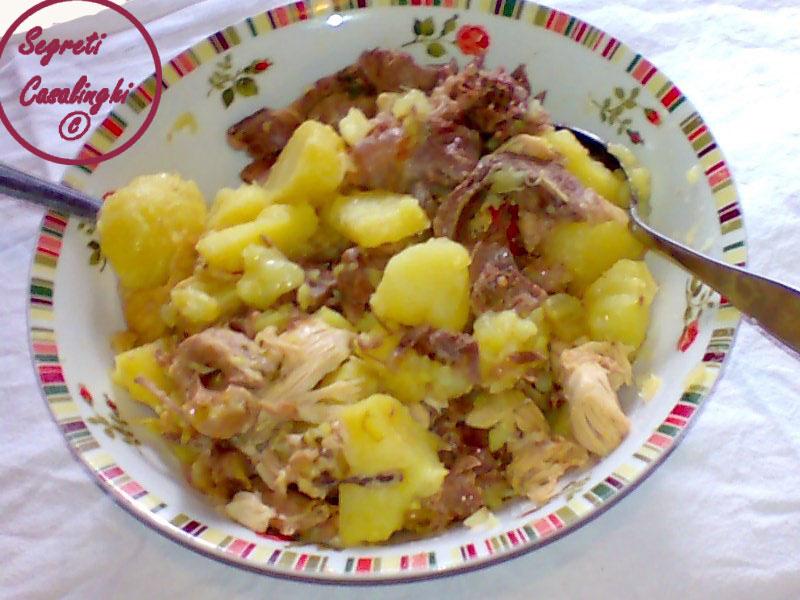 carne vitello patate