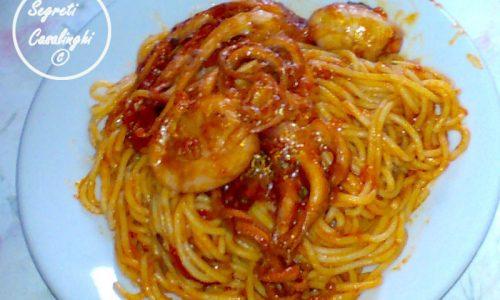 moscardini spaghetti pomodoro