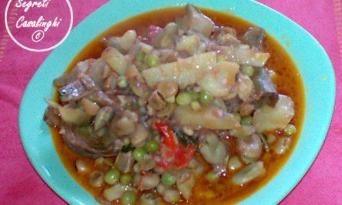 zuppa primavera fave piselli carciofi