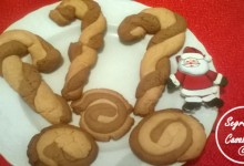 bastoncini biscotti babbo natale bicolori