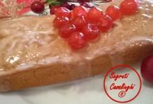plumcake natalizio vaniglia glassato limone