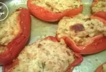 barchette peperoni ripieni forno