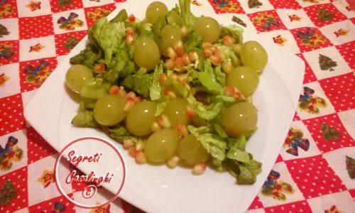 insalata uva melograno
