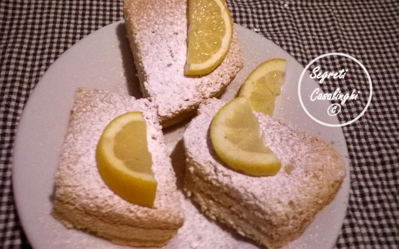 torta quadrotti limone cocco