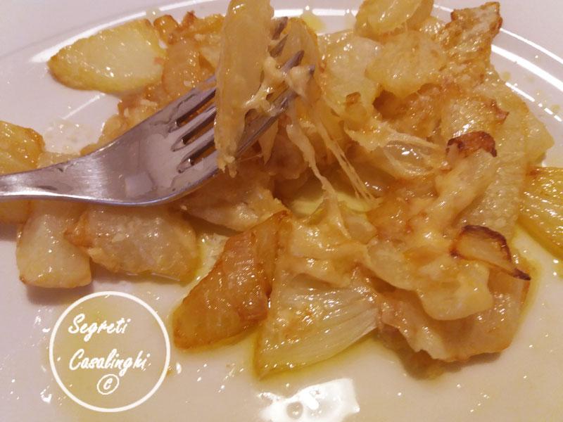 finocchi cipolla in padella