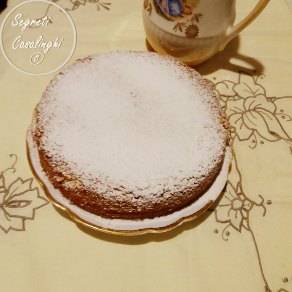 torta caprese bianca