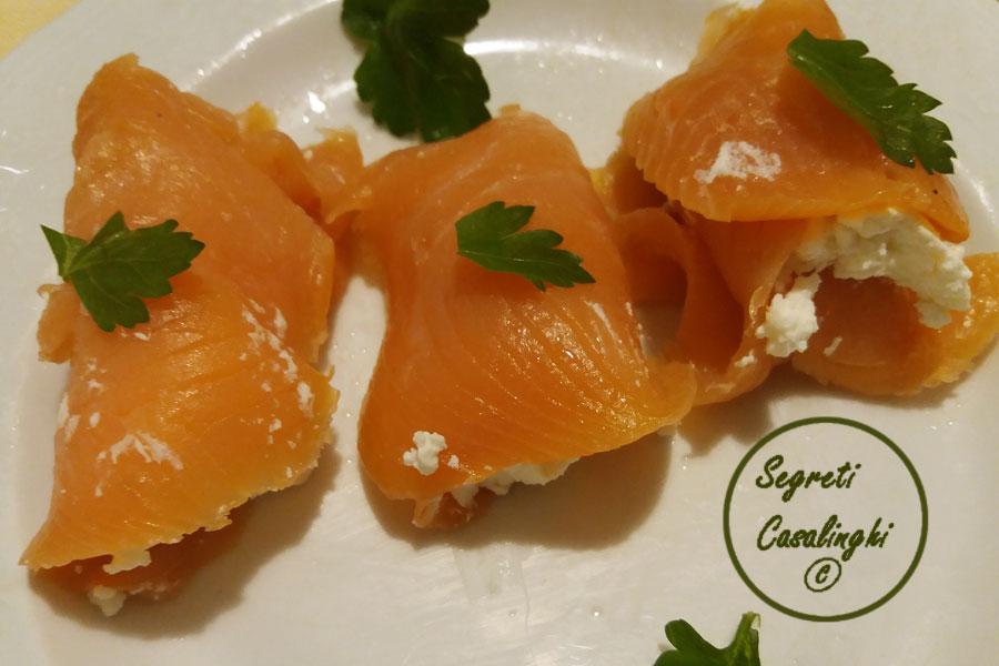 involtini salmone affumicato