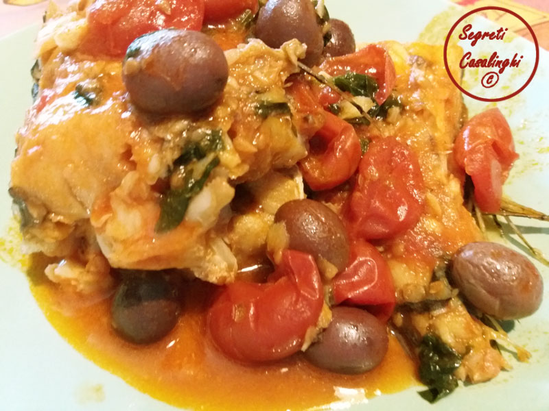 Merluzzo pomodori olive merluzzo con pomodori e olive for Casa del merluzzo