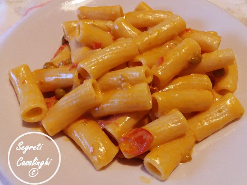 pasta pomodoro besciamella prosciutto