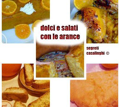dolci e salati con le arance