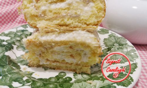 rotolo limone farcito crema chantilly